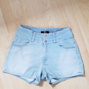 7 FOR ALL MANKIND- High Waste Shorts
